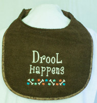 Drool Happens with Bone and Paws Border Dog Drool Bib