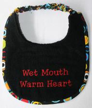Puppy sized Wet Mouth Warm Heart Dog Drool Bib