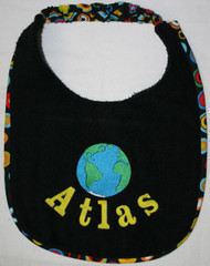 Atlas Name Drool Bib