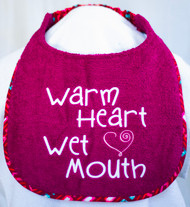 Warm Heart Wet Mouth Dog Drool Bib