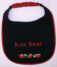 Strawberry Border Bib