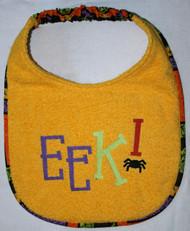 EEK! Halloween Dog Drool Bib