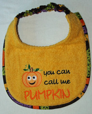 Call Me Pumpkin Dog Drool Bib (puppy sized)