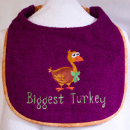 Thanksgiving Biggest Turkey Drool Bib