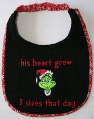 A Grinch Christmas Bib