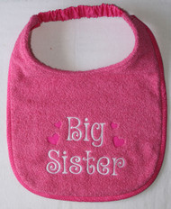 Big Sister Birth Announcement Drool Bib