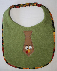 Turkey Tie Dog Drool Bib
