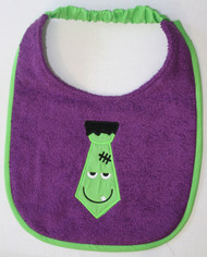 Frankenstein Tie Dog Drool Bib