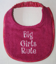 Big Girls Rule Dog Drool Bib Puppy Size