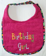 Birthday Girl Dog Drool Bib