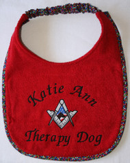 Custom Therapy Dog Drool Bib