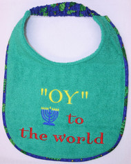 """Oy"" to the World Dog Drool Bib"