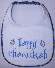 Happy Chanukah Dog Drool Bib