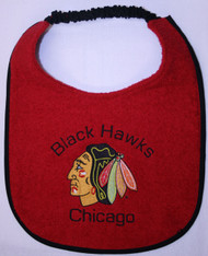 Chicago Black Hawks Drool Bib