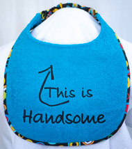 This is Handsome Dog Drool Bib Special Order