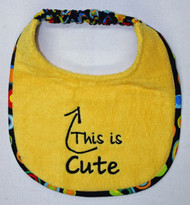 This is Cute Puppy Size Drool Bib