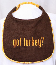 Special Order Got Turkey? Dog Drool Bib