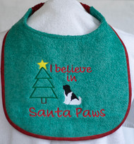 Newf Believe In Santa Paws Dog Drool Bib