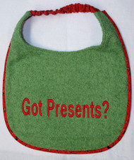 Got Presents? Dog Drool Bib Special Order