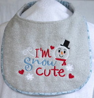 Snow Cute Winter Dog Drool Bib