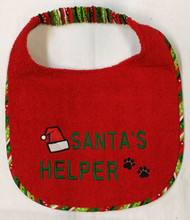 Santa's Helper Dog Drool Bib Special Order