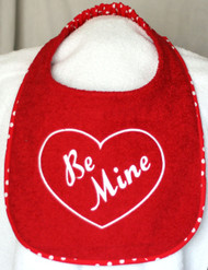 Text Heart Drool Bib