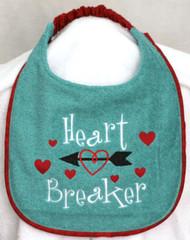 Heart Breaker Special Order Drool Bib