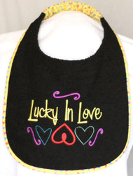 Lucky In Love Special Order Drool Bib