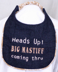 Heads Up Dog Drool Bib