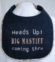 Heads Up Dog Drool Bib Special Order