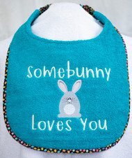 Somebunny Loves You Dog Drool Bib Special Order