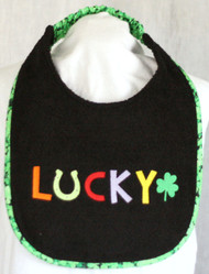 Irish Lucky Dog Drool Bib Special Order