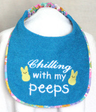 Chilling With My Peeps Dog Drool Bib Special Order