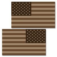 USA Tan Flag Clean