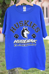 Husky Cheer Short Sleeve- Blue (AM-A3XL ONLY)
