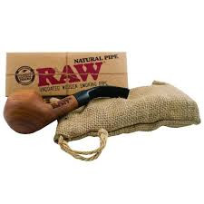 Raw Sherlock Pipe with Cloth Bag