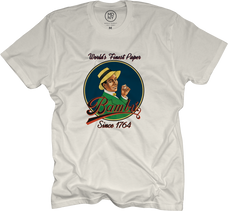Bambu White Color T-Shirt with Bambu Man Logo Design - Large