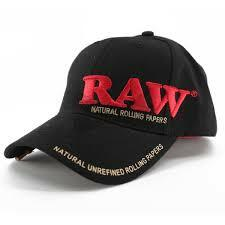 Raw Baseball Cap - Black Color with Poker