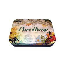 "Pure Hemp Artist Design Metal Stash Tin - 3.75"" x 2.5"""