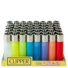 Clipper Lighter - Solid Color Fluorescent Design