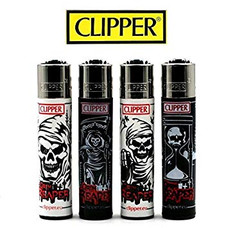 Clipper Lighter - Skulls 8 Design