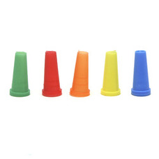 Beamer Colored Female Hookah Mouth Tips - 100-Count Pack