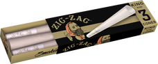 Zig Zag King Size Paper Cones - 3-Ct Packs