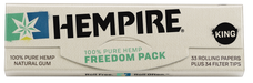Hempire Freedom Pack King Size Rolling Paper with Tips