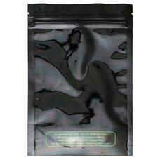 Eighth Ounce Mylar Bag - Black/Clear Colors