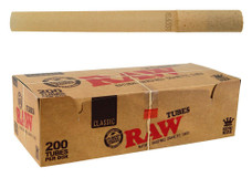 Raw King Size Natural Cigarette Tubes - 200-ct