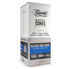 Beamer Bleach-Free Hemp Middle Man Size Pre-rolled Cones - 800ct Bulk Box