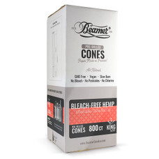 Beamer Bleach-Free Hemp King Size Pre-rolled Cones - 800ct Bulk Box