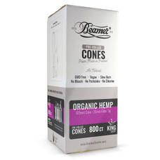 Beamer Organic Hemp King Size Pre-rolled Cones - 800ct Bulk Box