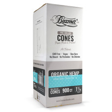 Beamer Organic Hemp 1 1/4 Size Pre-rolled Cones - 900ct Bulk Box